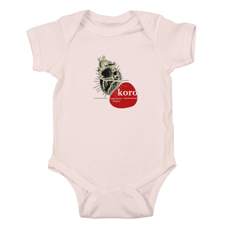 Koro - Esperanto Heart Kids Baby Bodysuit by itelchan's Artist Shop