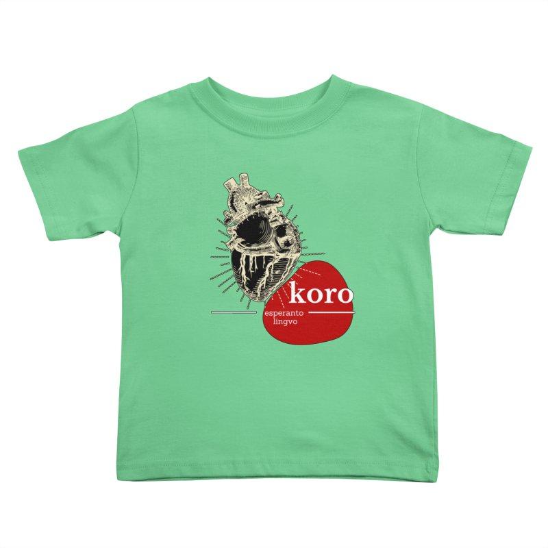 Koro - Esperanto Heart Kids Toddler T-Shirt by itelchan's Artist Shop