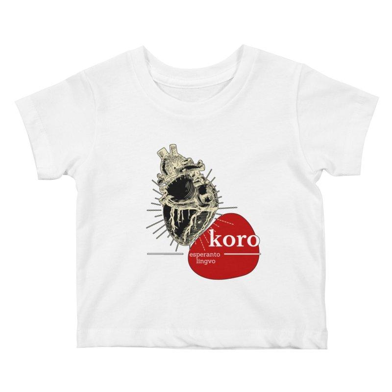 Koro - Esperanto Heart Kids Baby T-Shirt by itelchan's Artist Shop