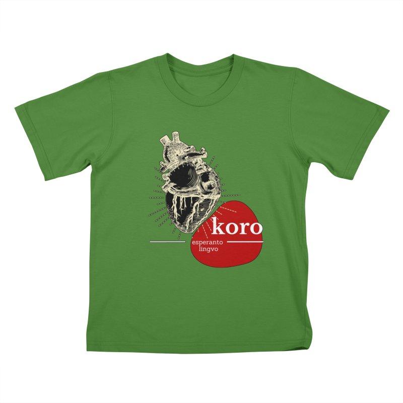 Koro - Esperanto Heart Kids T-shirt by itelchan's Artist Shop