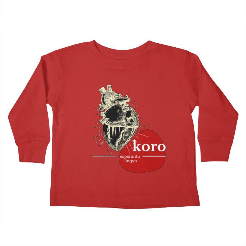 Koro - Esperanto Heart Kids Toddler Longsleeve T-Shirt by itelchan's Artist Shop