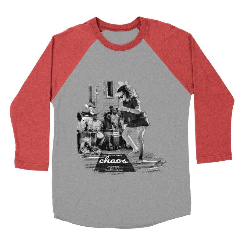 Chaos Dancing Star Women's Baseball Triblend T-Shirt by itelchan's Artist Shop