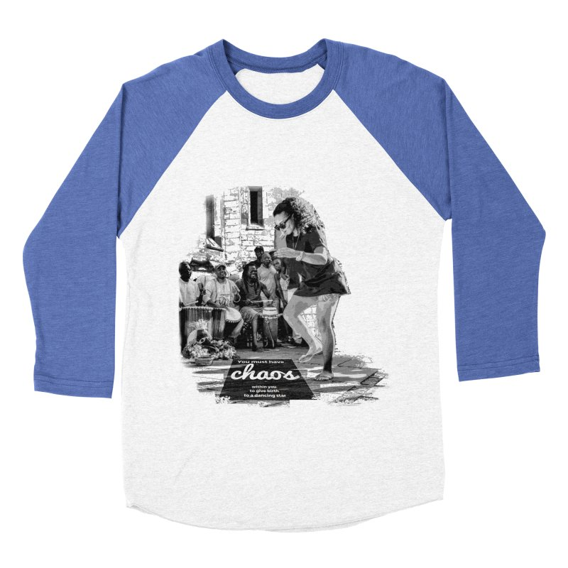 Chaos Dancing Star Men's Baseball Triblend T-Shirt by itelchan's Artist Shop