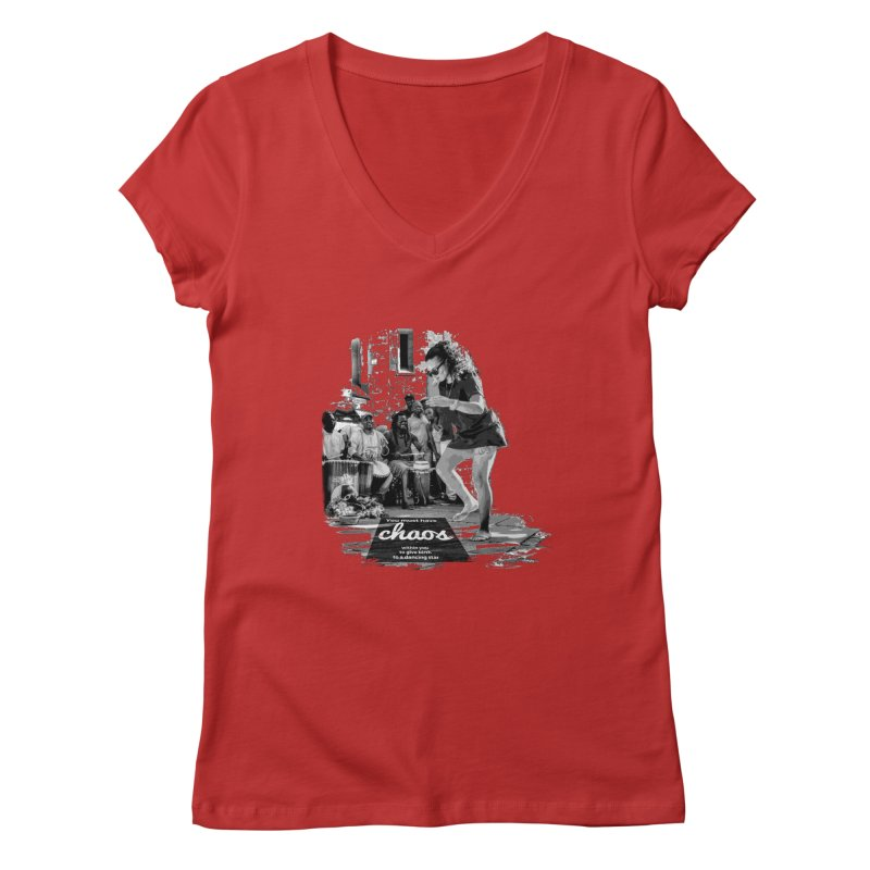 Chaos Dancing Star Women's V-Neck by itelchan's Artist Shop