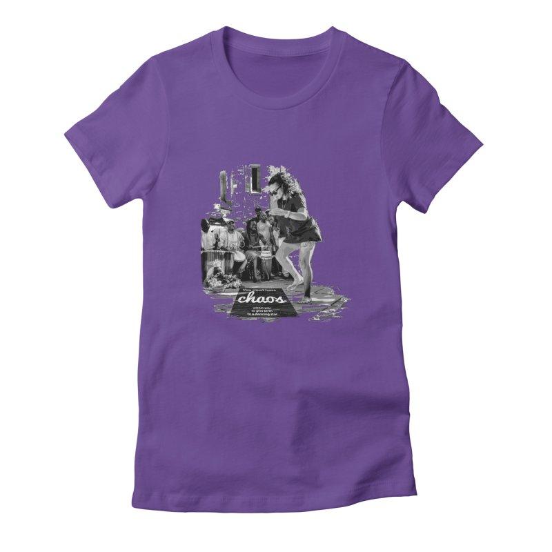 Chaos Dancing Star Women's Fitted T-Shirt by itelchan's Artist Shop