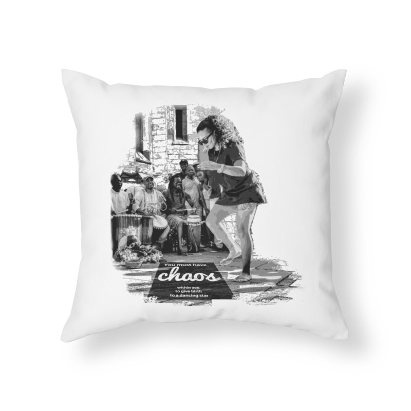 Chaos Dancing Star Home Throw Pillow by itelchan's Artist Shop