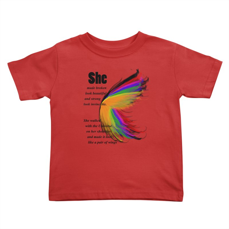 She has wings Kids Toddler T-Shirt by itelchan's Artist Shop