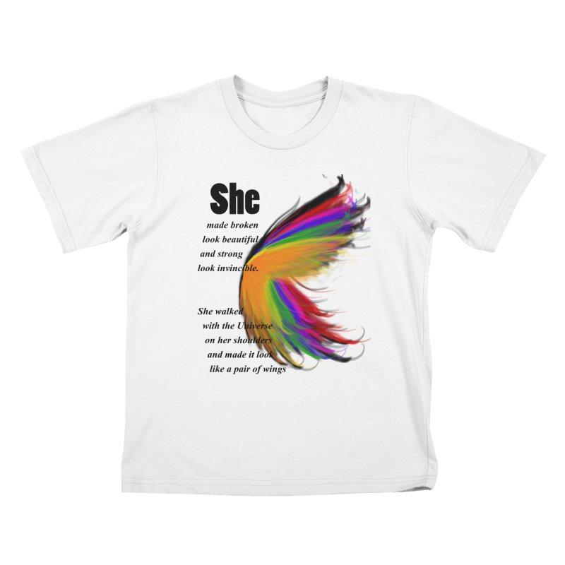 She has wings Kids T-shirt by itelchan's Artist Shop