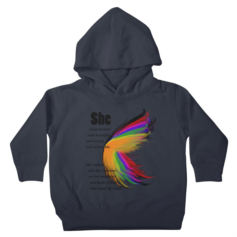 She has wings Kids Toddler Pullover Hoody by itelchan's Artist Shop