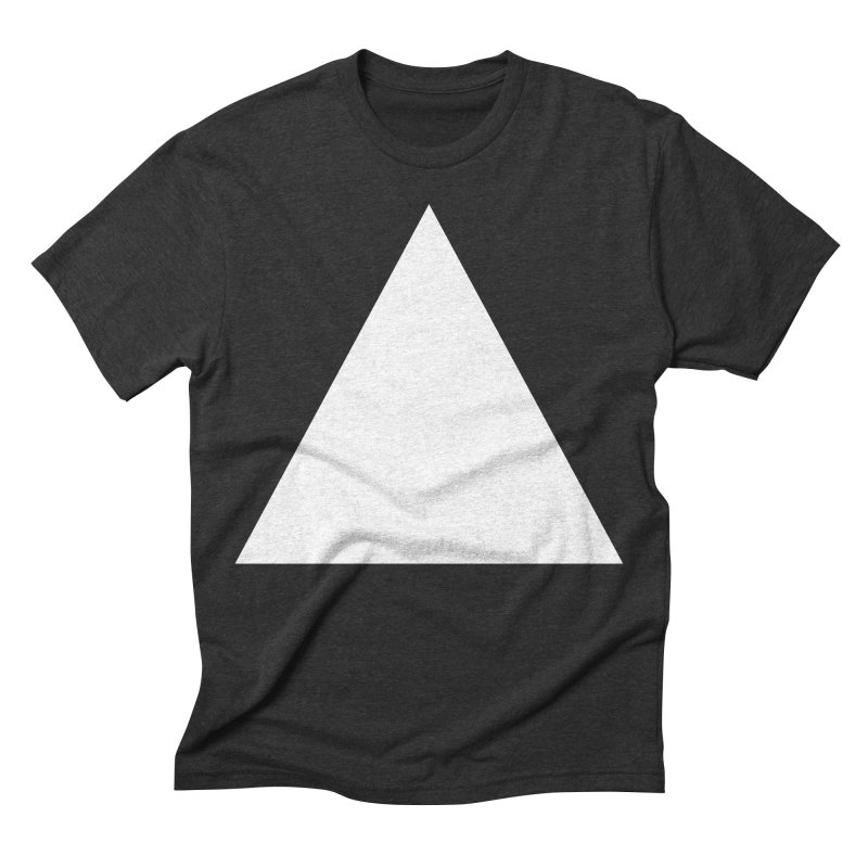 A in Men's Triblend T-shirt Heather Onyx by Iterative Work