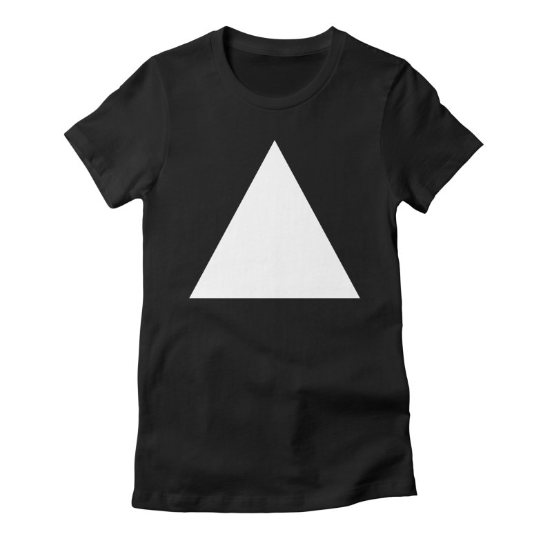 A in Women's Fitted T-Shirt Black by Iterative Work