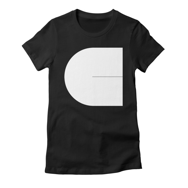 C in Women's Fitted T-Shirt Black by Iterative Work