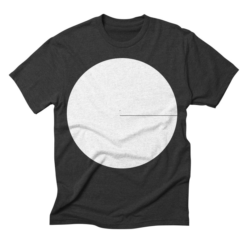 E in Men's Triblend T-shirt Heather Onyx by Iterative Work