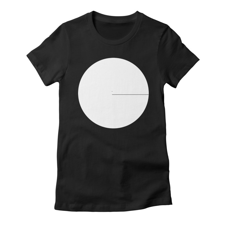 E in Women's Fitted T-Shirt Black by Iterative Work