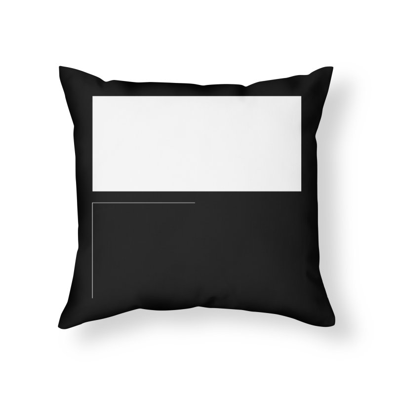 F in Throw Pillow by Iterative Work