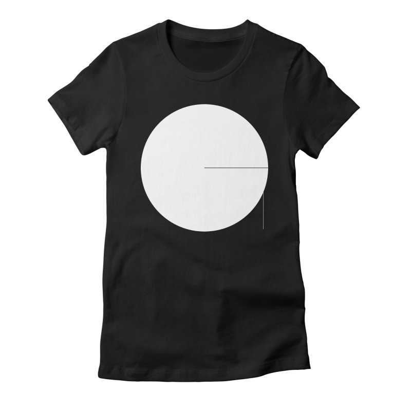 G in Women's Fitted T-Shirt Black by Iterative Work