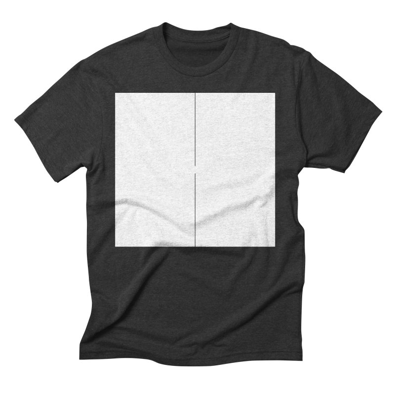 H in Men's Triblend T-Shirt Heather Onyx by Iterative Work