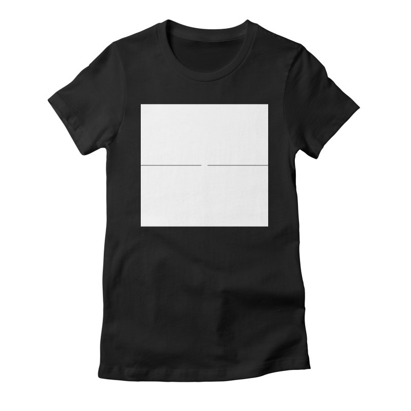 I in Women's Fitted T-Shirt Black by Iterative Work