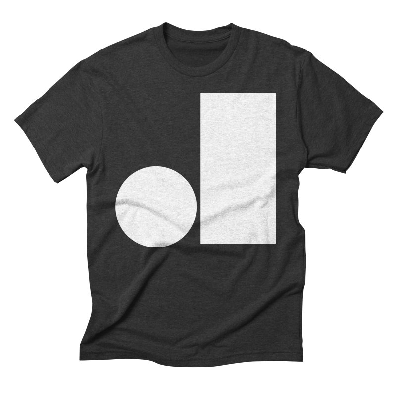 J in Men's Triblend T-Shirt Heather Onyx by Iterative Work