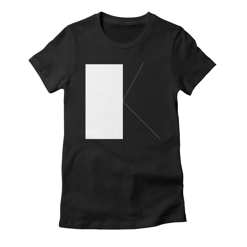 K in Women's Fitted T-Shirt Black by Iterative Work