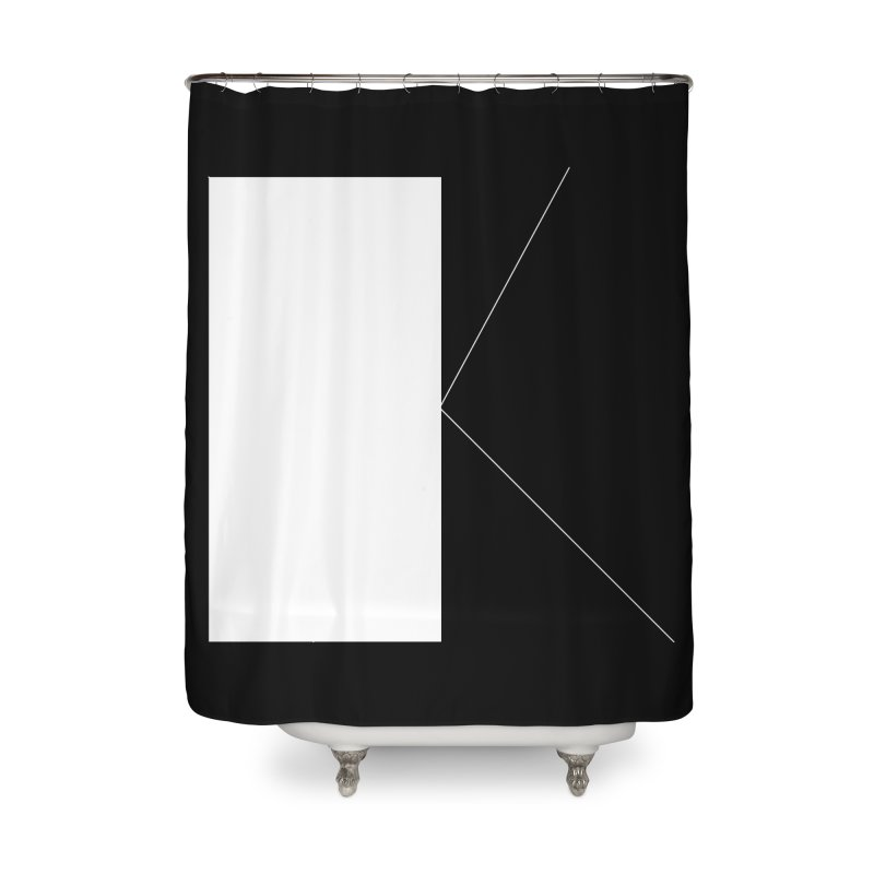 K Home Shower Curtain by Iterative Work