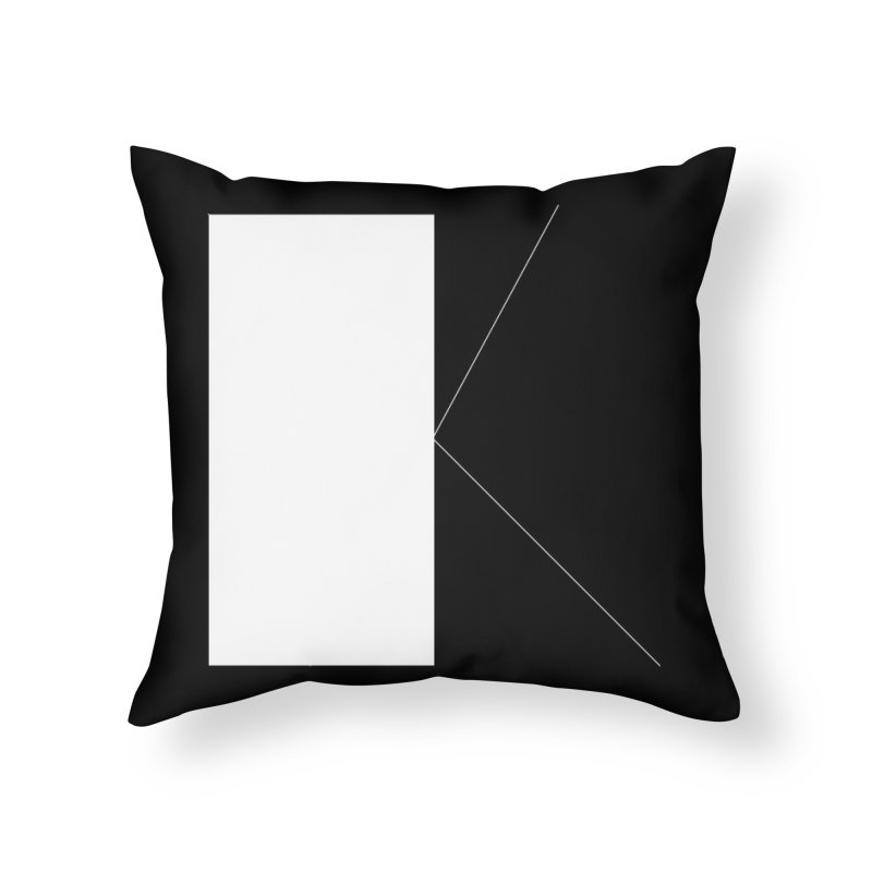 K Home Throw Pillow by Iterative Work