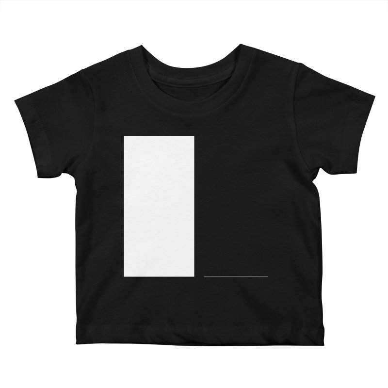 L in Kids Baby T-Shirt Black by Iterative Work