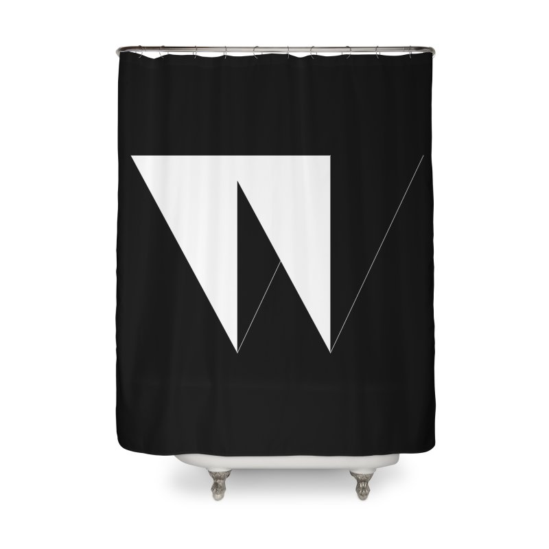 W Home Shower Curtain by Iterative Work