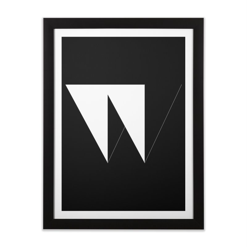 W Home Framed Fine Art Print by Iterative Work
