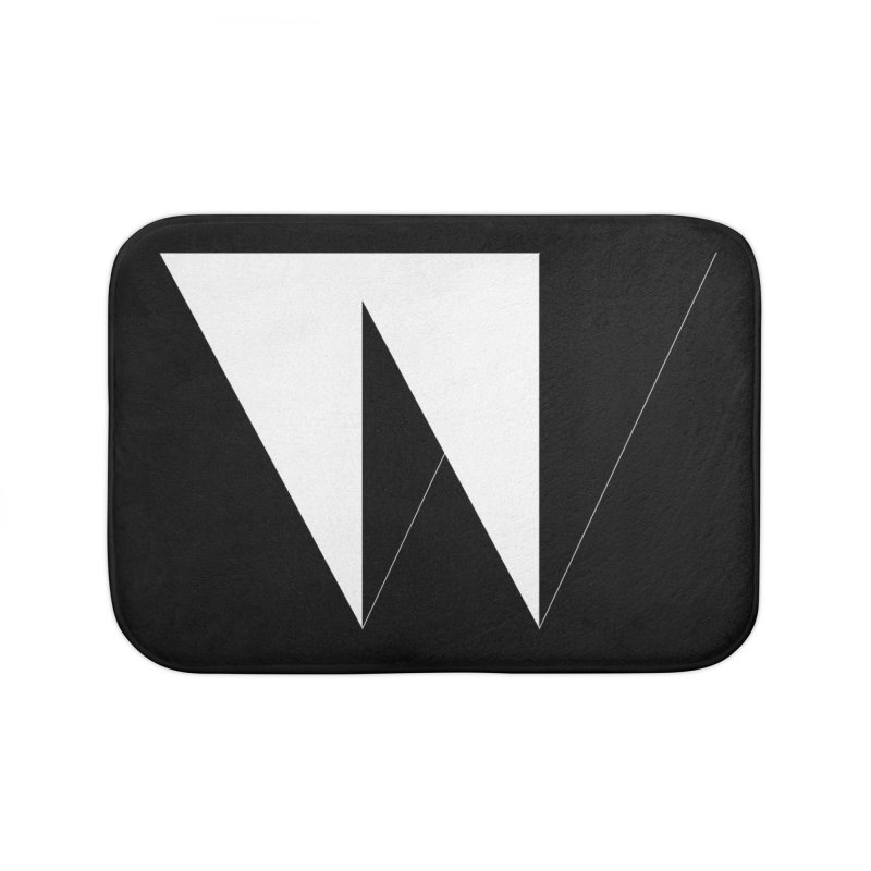 W Home Bath Mat by Iterative Work