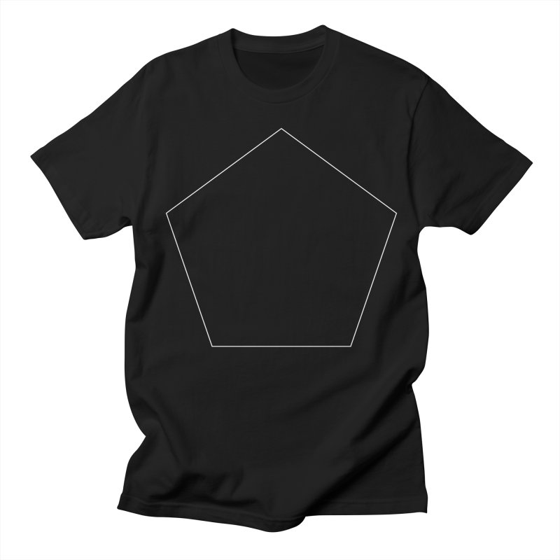Volume 2.9.03—Pentagon in Men's Regular T-Shirt Black by Iterative Work