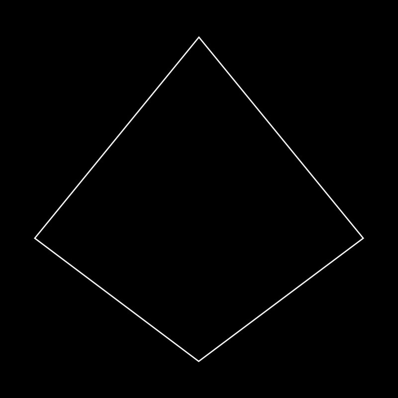 Volume 2.9.04—Right Kite Quadrilateral Home Stretched Canvas by Iterative Work