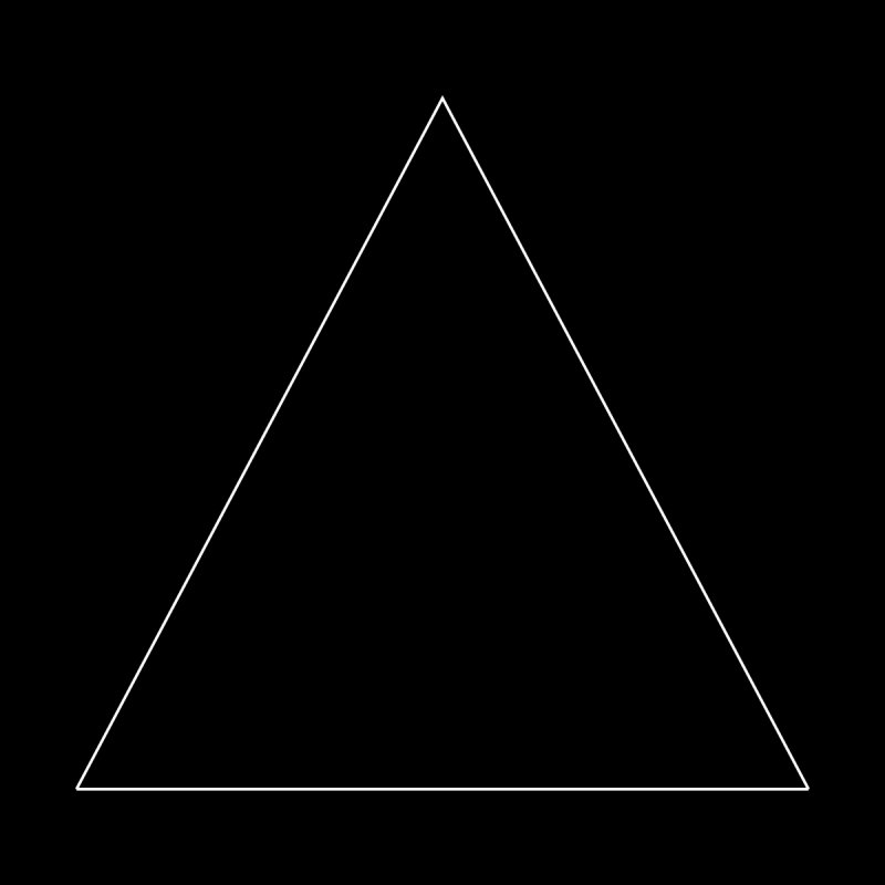 Volume 2.9.06—Equilateral Triangle Home Fine Art Print by Iterative Work