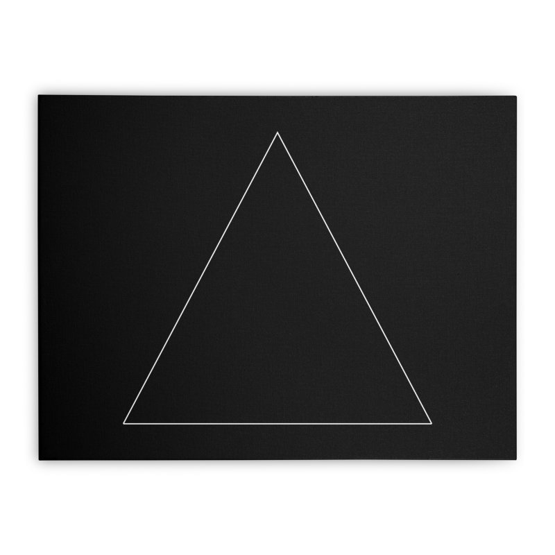 Volume 2.9.06—Equilateral Triangle Home Stretched Canvas by Iterative Work