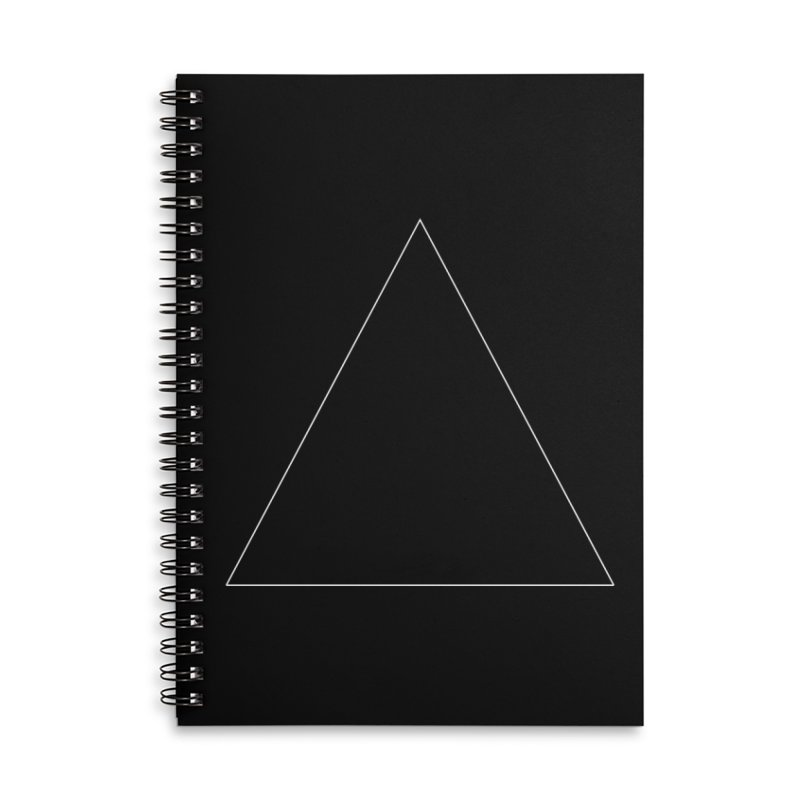 Volume 2.9.06—Equilateral Triangle Accessories Lined Spiral Notebook by Iterative Work