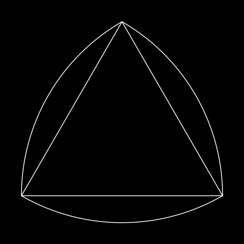 Volume 2.9.08—Reuleaux Triangle Kids T-Shirt by Iterative Work