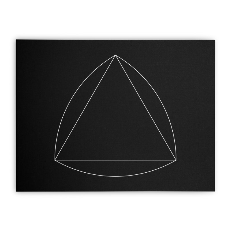 Volume 2.9.08—Reuleaux Triangle Home Stretched Canvas by Iterative Work
