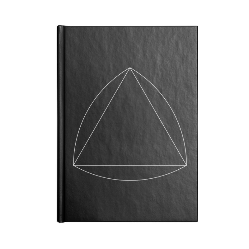 Volume 2.9.08—Reuleaux Triangle Accessories Blank Journal Notebook by Iterative Work