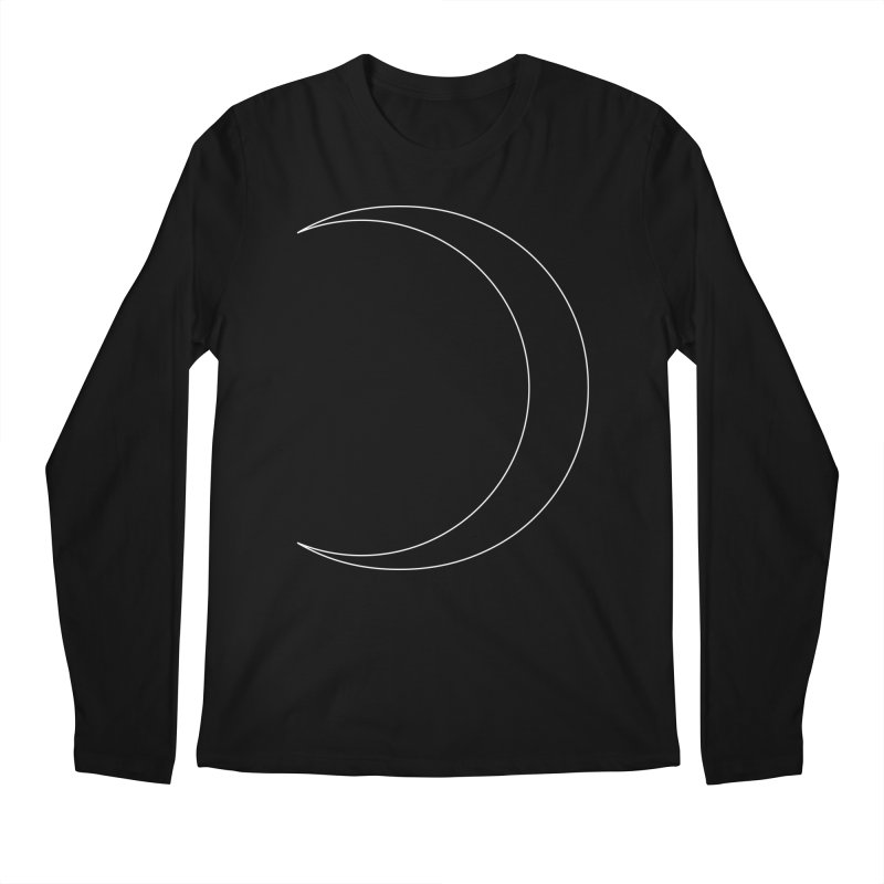 Volume 2.9.09—Crescent Men's Longsleeve T-Shirt by Iterative Work