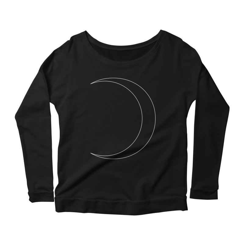 Volume 2.9.09—Crescent Women's Scoop Neck Longsleeve T-Shirt by Iterative Work