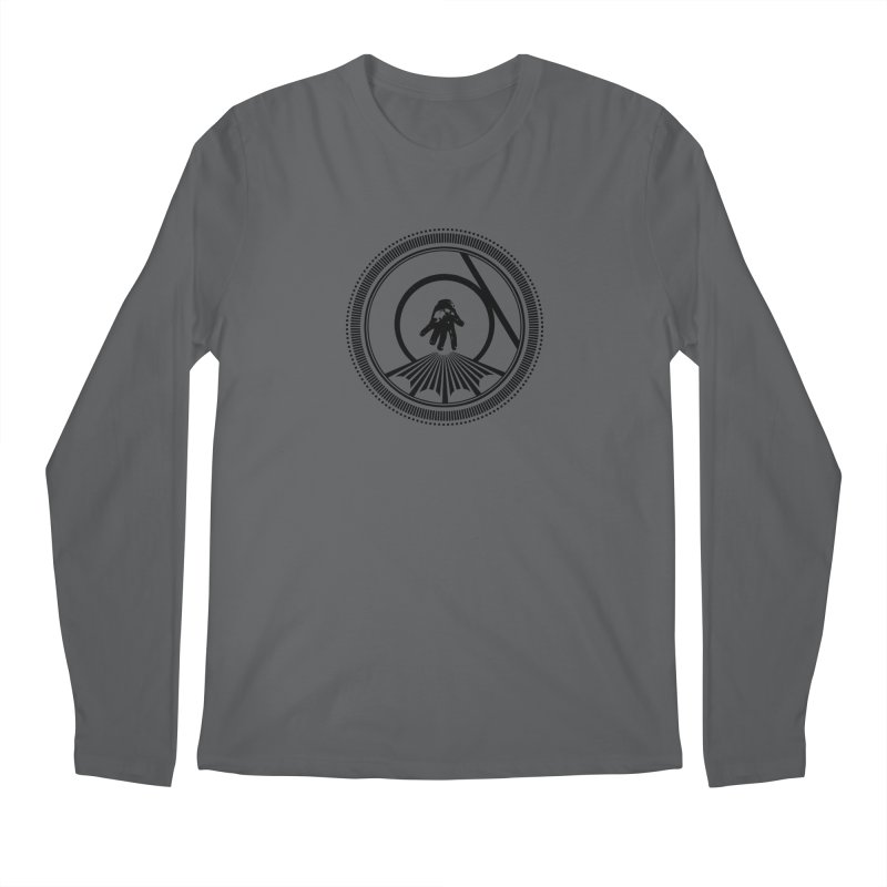 Save the Tangent (black ink) Men's Longsleeve T-Shirt by Interdimensional Transmissions