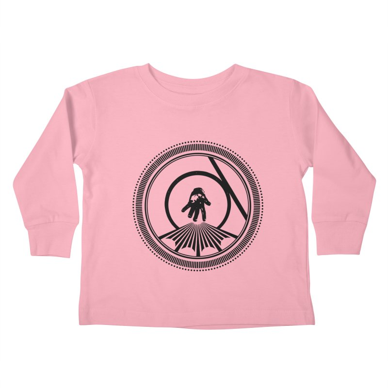 Save the Tangent (black ink) Kids Toddler Longsleeve T-Shirt by Interdimensional Transmissions