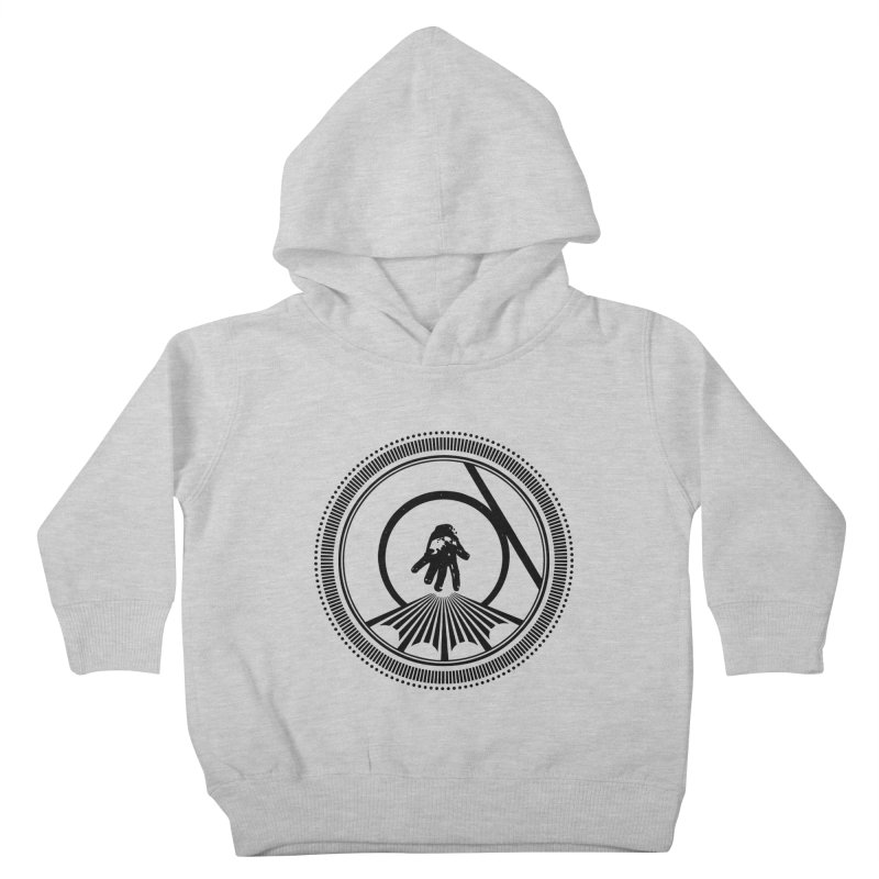 Save the Tangent (black ink) Kids Toddler Pullover Hoody by Interdimensional Transmissions