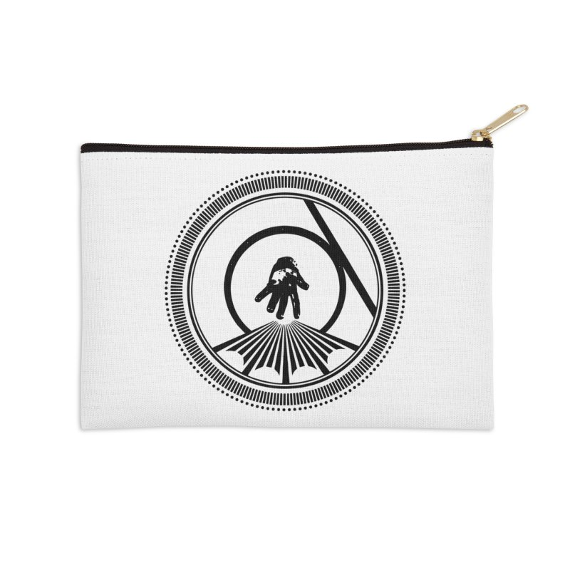 Save the Tangent (black ink) Accessories Zip Pouch by Interdimensional Transmissions