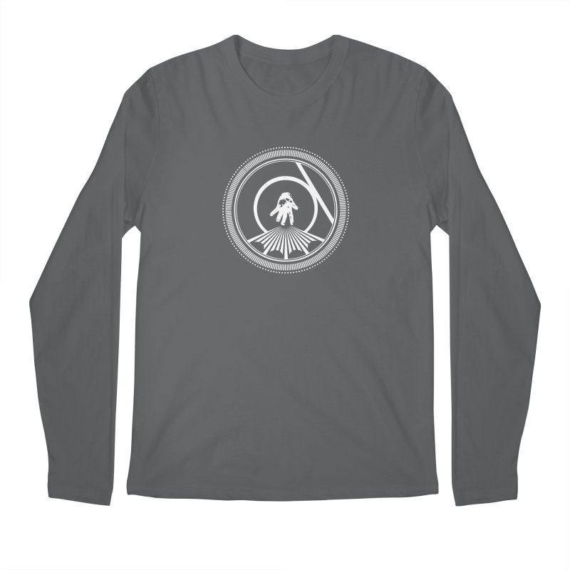 Save the Tangent (white ink) Men's Longsleeve T-Shirt by Interdimensional Transmissions