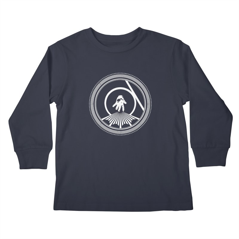 Save the Tangent (white ink) Kids Longsleeve T-Shirt by Interdimensional Transmissions