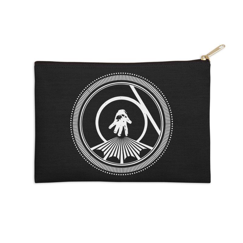 Save the Tangent (white ink) Accessories Zip Pouch by Interdimensional Transmissions