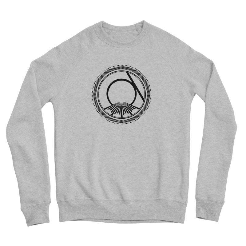 Tangent Logo (black ink) Men's Sweatshirt by Interdimensional Transmissions