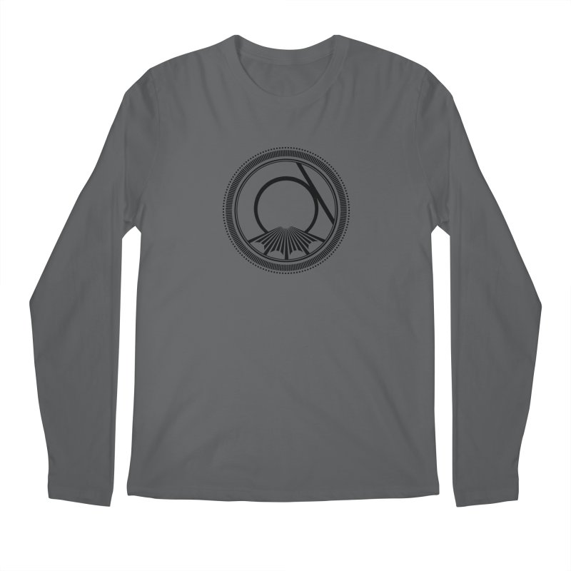 Tangent Logo (black ink) Men's Longsleeve T-Shirt by Interdimensional Transmissions