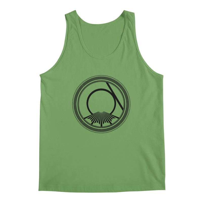 Tangent Logo (black ink) Men's Tank by Interdimensional Transmissions